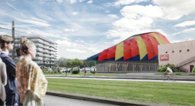Economie construction chapiteau cirque Le Mans